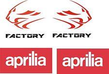 Aprilia Factory Lion Decals Stickers X 4