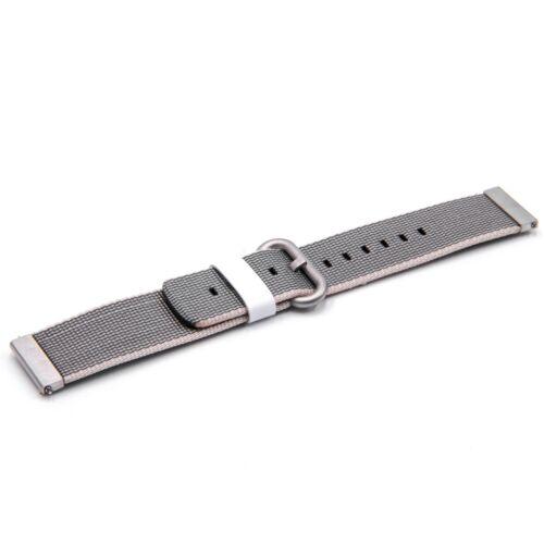 Smartwatch Fitness Armband 20mm nylon grau für Withings Steel HR 40mm