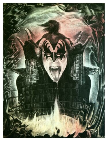 Gene Simmons KISS signed and numbered limited edition print ONLY 100 made!