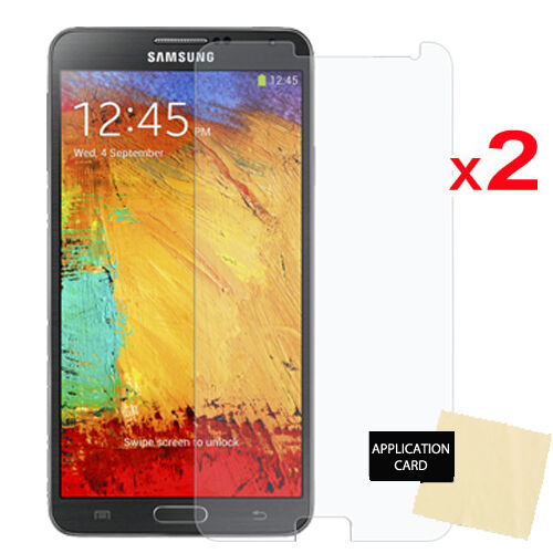 2 Pack CLEAR LCD Screen Protector Cover Guards For Samsung Galaxy Note 3 N9005
