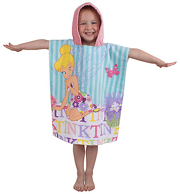 Official Licensed Character Cotton Ponchos Hooded Towels Boys Girls Kids Gift