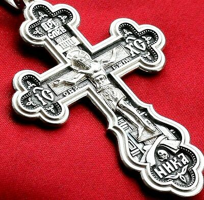 925 Sterling Silver ST Andrew Crucifix Cross Pendant