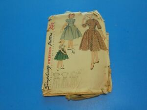 Simplicity-Sewing-Pattern-3645-Girls-Dress-Size-12-Vintage-1950s
