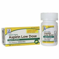 2 Pack Quality Choice Aspirin 81mg Low Dose Enteric Coated 120 Tablets Each on sale