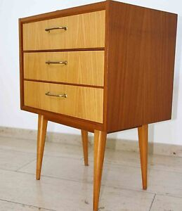 60er jahre vintage xs kommode danish optik design mid century xs sideboard 12 ebay. Black Bedroom Furniture Sets. Home Design Ideas