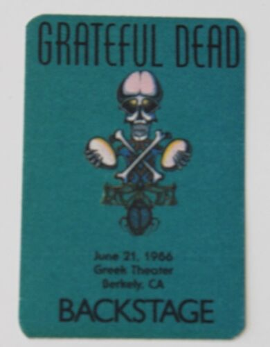 Grateful Dead Backstage Pass 6-21-86 Greek Theater Berkeley @ UC Berkeley UCB