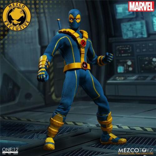 """Mezco toys 6/"""" Super Hero Deadpool Blue Anime Figure Action Model Marvel Toy Gift"""
