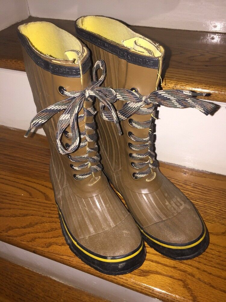 Weather Spirits Mens Insulated Waterproof Steel Shank Fishing Hunting Boots Sz 5