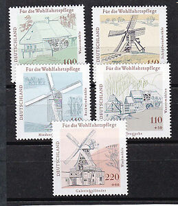 Stamps Germany 1997 Mills,surtax,set Mnh Sc B820/3 J802 Topical Stamps