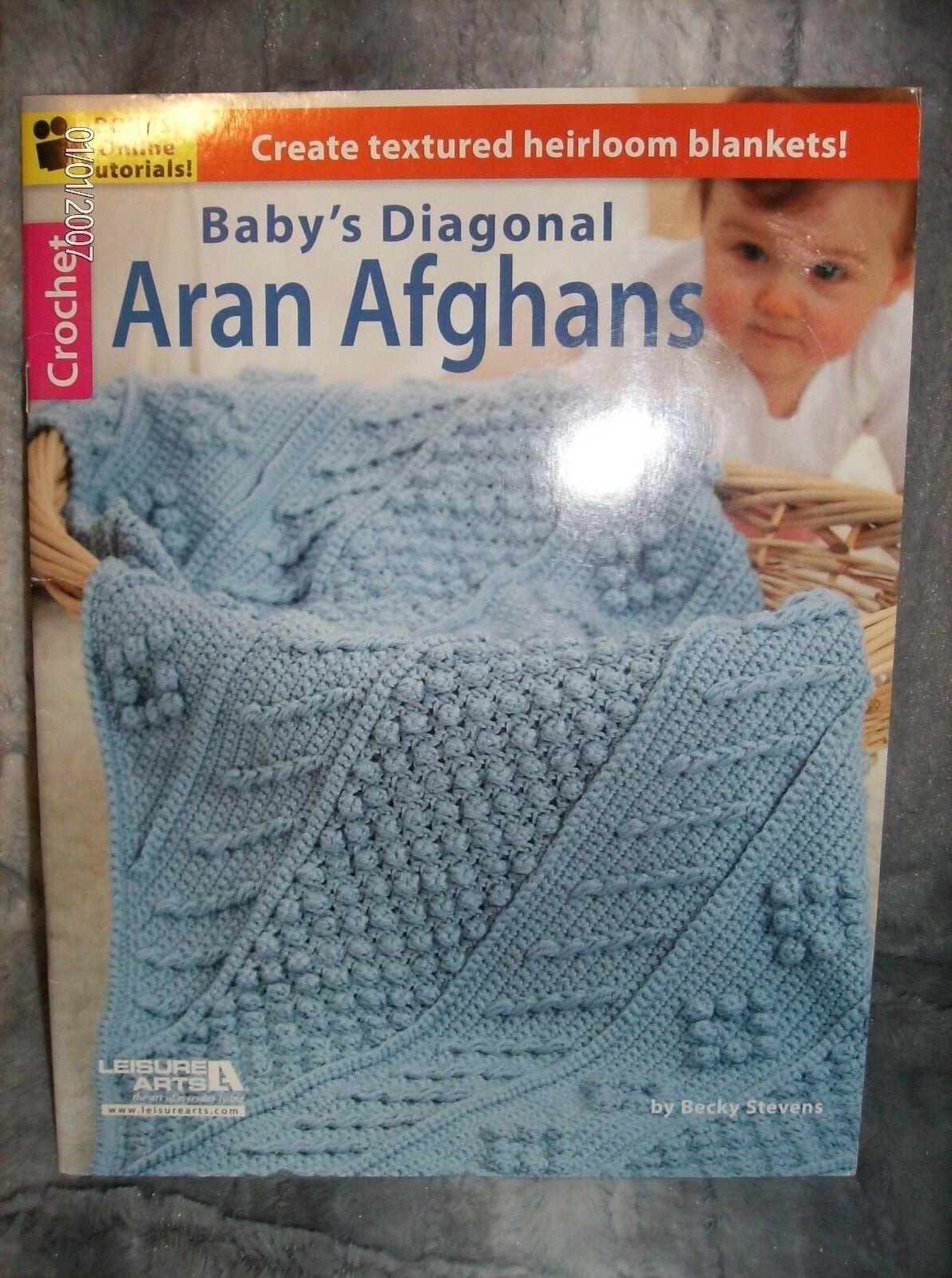 1be792aae575 Baby s Diagonal Aran Afghans Paperback by Stevens Becky for sale ...