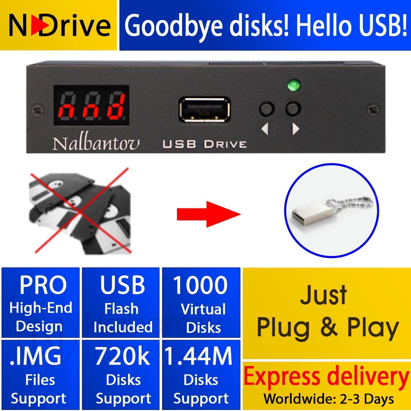 Floppy Disk USB Emulator N-Drive 1000 for Yamaha QY300, PSR SQ16, PSR 600