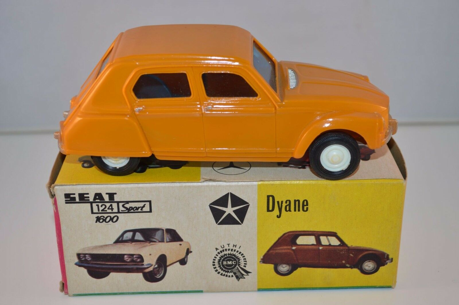 Vercof Spain toy car Citroen Dyane orange perfect mint in box