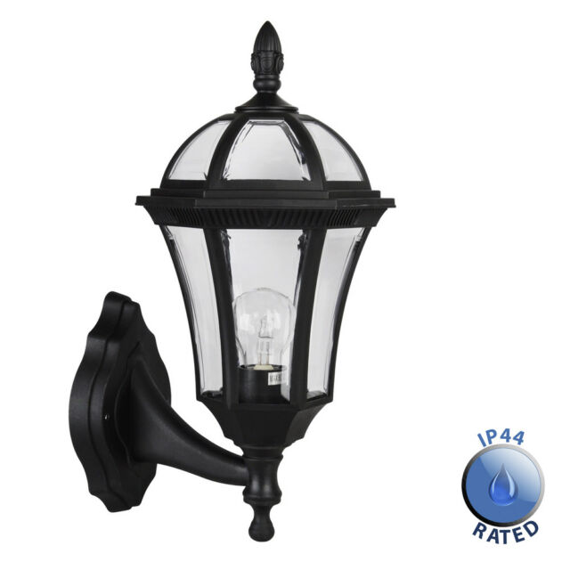 Vintage style black ip44 outdoor garden outside wall light lantern vintage style black ip44 outdoor garden outside wall light lantern lights new mozeypictures Image collections