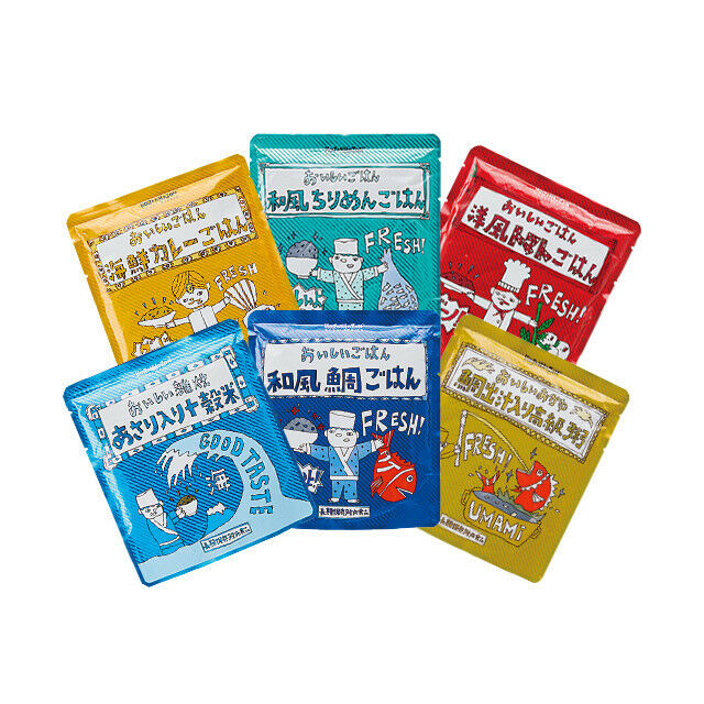 Emergency Long-term storage rice 6 Sets, Disaster prevention foods  F/S JAPAN