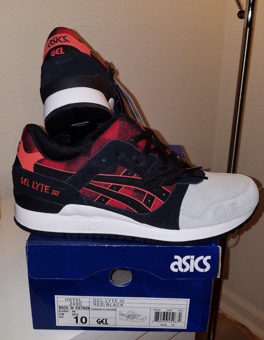 Asics Gel-Lyte III Red/Black H6Y0L-2490 Men Size 10