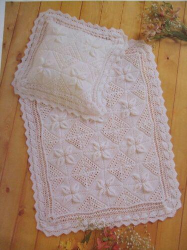 R1-Manta de Bebé Tejer patrón//ideal para tejido para bebé o reborn