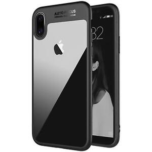 Handy-Huelle-fuer-iPhone-X-Schutz-Tasche-Bumper-Case-Transparent-Cover-Schutzhuelle