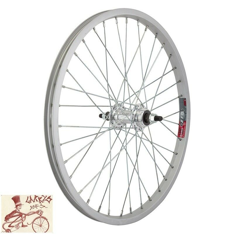 Wheelmaster rueda libre 20  X 1.75  plata rueda trasera de bicicleta