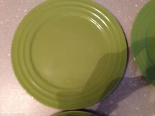 Rachael Ray Double Ridge Set of 2 Dinner Plates Green Apple 11\