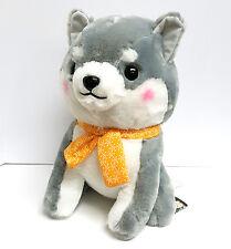 """AMUSE Dog Plush Series Mameshiba San Kyodai: Tabi no Tochu 16"""" (Taiga- Grey Dog)"""