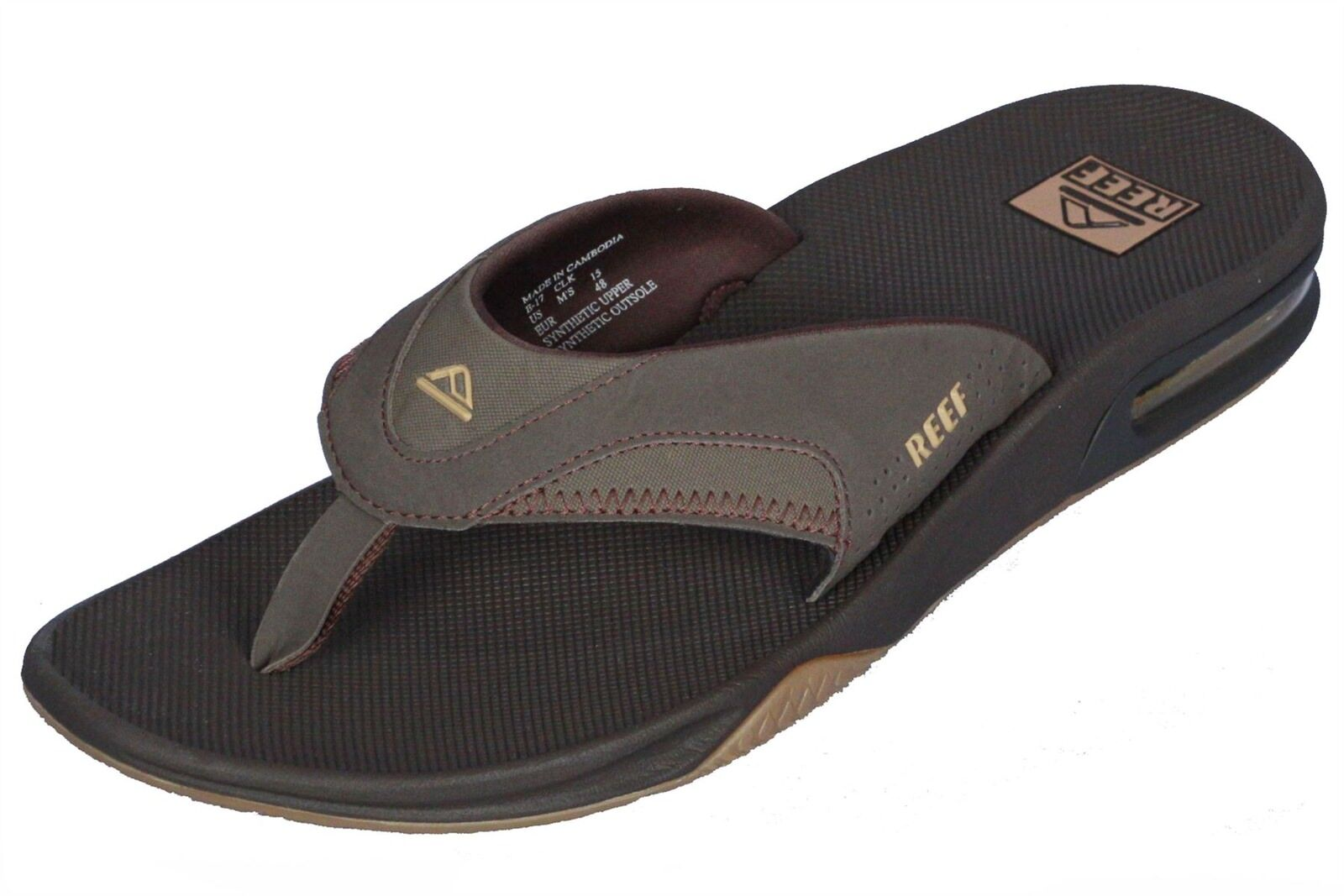 Reef Water Friendly Mens Sandalen mit Flaschenöffner ~ Fanning Brown / Gum