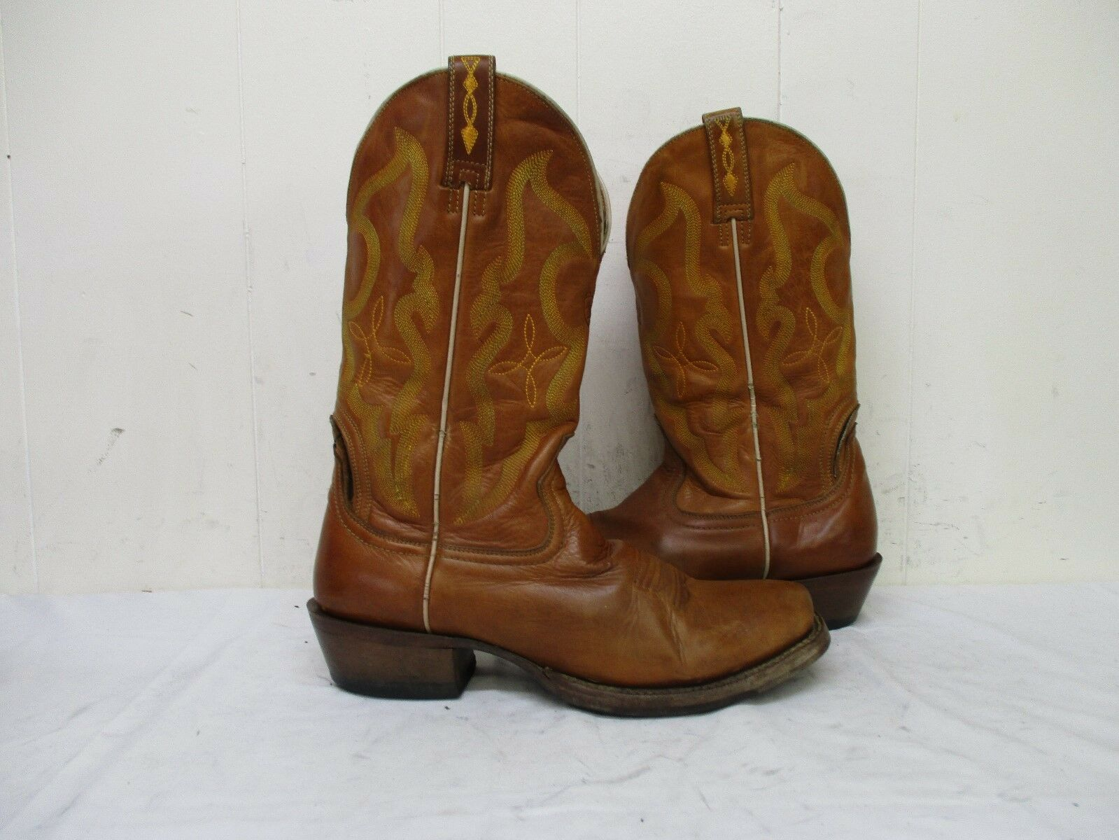Ariat Brown Leather Cowboy Boots Mens Size 9 D Style 10007963