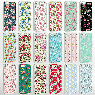 Vintage Floral Flower Shabby Chic Phone Case Cover for iPhone Range