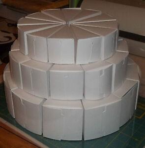3 tier cake slice centerpiece favor boxes package of 36 cake boxes wedding. Black Bedroom Furniture Sets. Home Design Ideas