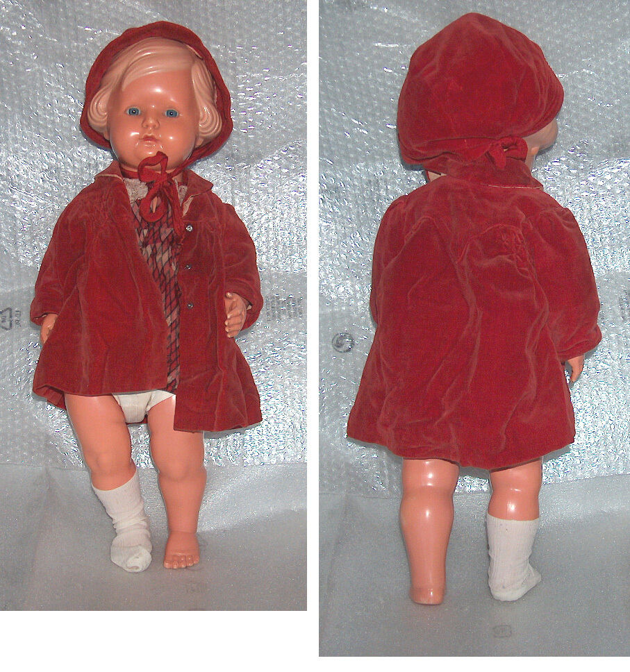 RARE VINTAGE LARGE 56 1 2 CELLBA CELLULOID DOLL, GERMANY