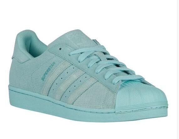 NWT Adidas Originals SUPERSTAR  RT SUEDE Monochromatic Clear Aqua AQ4916 SUEDE RT 11.5 US 85091d