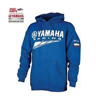 Yamaha Special Edition Hooded Sweatshirt Crp-14frc-bl-lg W/ Gytr Yamalube Logos