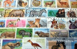 Africa 100 different African Animals Stamps