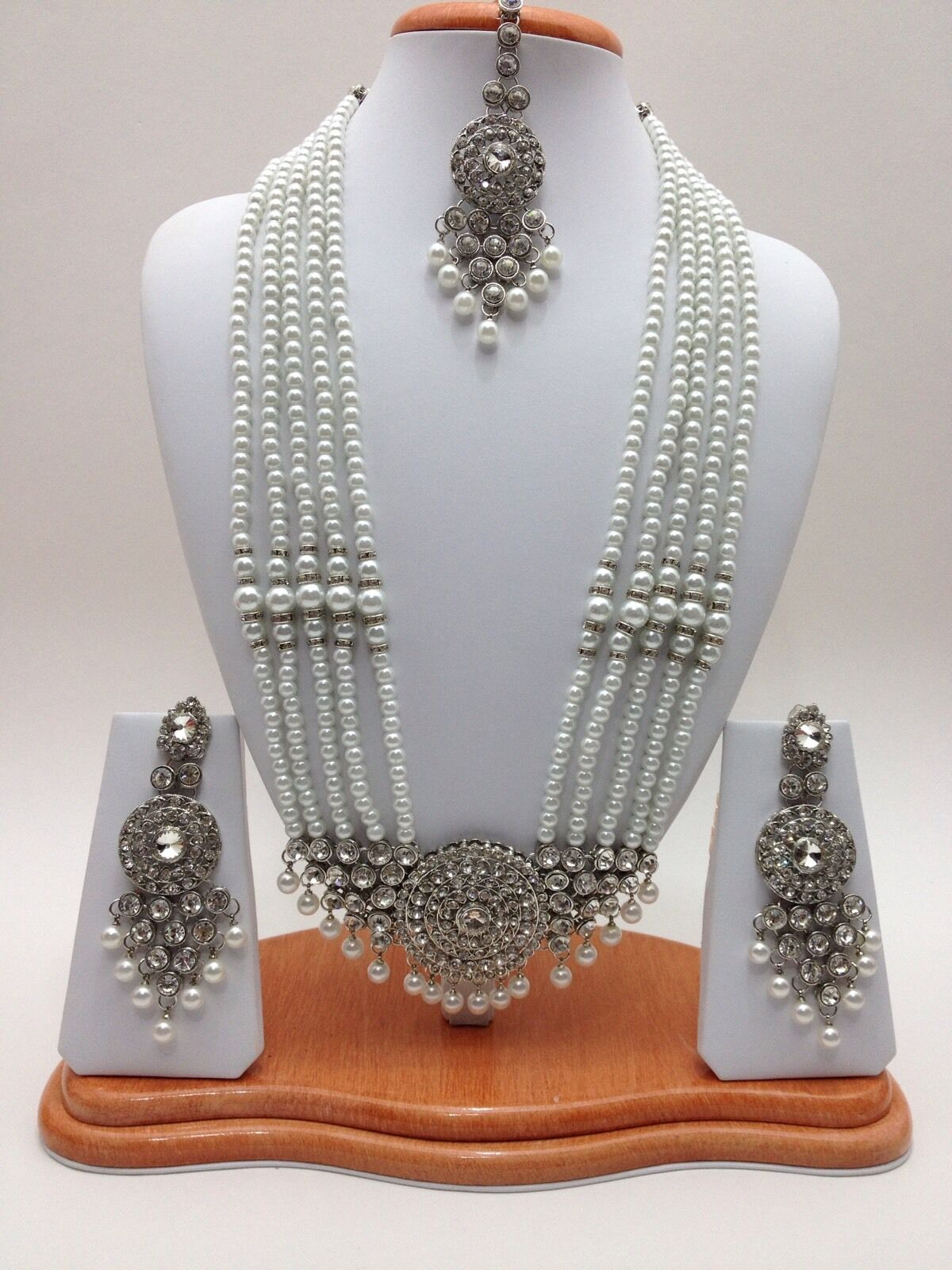 Indiano Indiano Indiano Nuziale Gioielli Rani Haar Collana Set Bollywood Party Etnica Wear f8b3d5