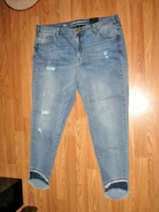 Details About Lane Bryant Women S Lycra Beauty Ankle Skinny Blue Jeans Size 22 Inseam 28