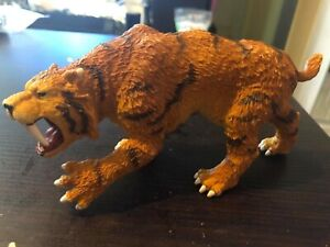 Saber-toothed Tiger Machairodus Simulation Animal Model Kid Children/'s Toy