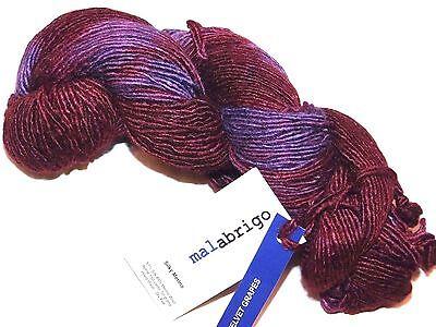 BURGUNDY 1 Skein 150yd Malabrigo SILKY MERINO Wool Silk 51//49 SOFT LUXURY YARN
