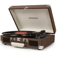 Crosley CRUISER DELUXE 3 Speed Turntable Record Player with Bluetooth Speaker