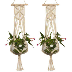 macrame hanging basket pot holder macrame plant hanger hanging planter basket 1411