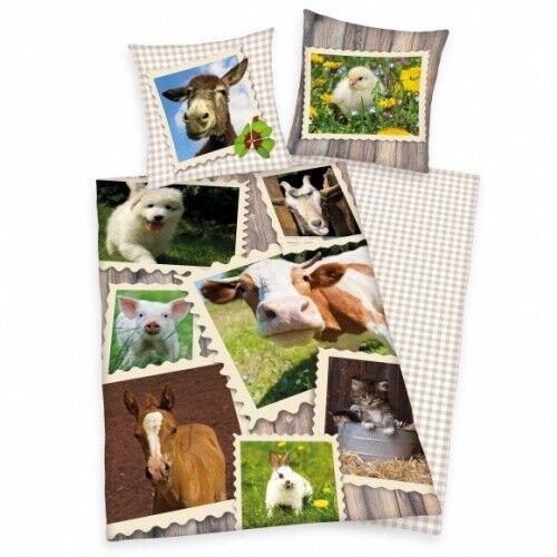 Bettwäsche Herding Hunde Welpen Hundewelpen 135 x 200 cm Geschenk NEU WOW
