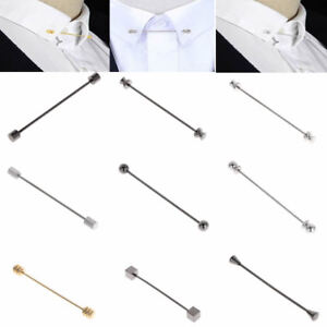 Men-Shirt-Pins-Neckties-Tie-Clip-Collar-Clasp-Man-Brooch-Bar-Father-039-s-Day-Gift