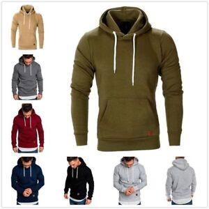 Men-Hooded-Hoodie-Coat-Jacket-Outwear-Sweater-Fit-Jumper-Loose-Pullover-Tops