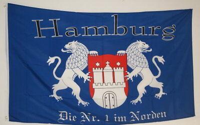 Bescheiden Fahne Flagge 0262 Hamburg Die Nr.1 Im Norden Deine Stadt Dein Verein Sammler Neu