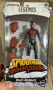 Marvel-Legends-venompool-BAF-venomized-Meilen-Morales-Actionfigur-in-Hand-neuwertig