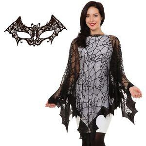 vari design scarpe eleganti bambino Dettagli su Donna Nero Ragno Pipistrello Mantella Vestito per Halloween  Rete da Costume