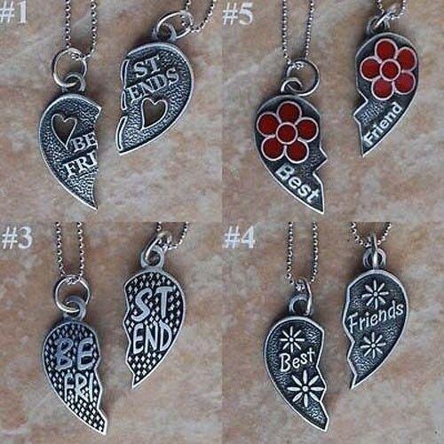 Best Friends Friendship Jigsaw split heart silver pewter Pendant/Charm/Amulet