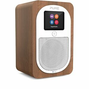 pure evoke h3 compact digital radio portable dab fm bluetooth alarm clock walnut ebay. Black Bedroom Furniture Sets. Home Design Ideas