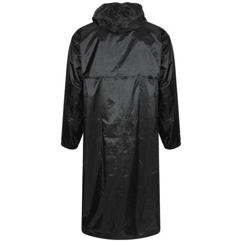 Linea Uomo Donna Unisex Lungo con Cappuccio Pioggia Cappotto Impermeabile Kagool Pioggia Mac Cappotto Giacca
