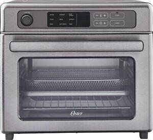 Oster - RapidCrisp Digital Air Fryer Oven - Stainless Steel