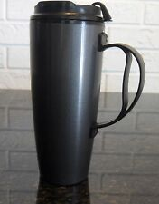 22 OZ GRAPHITE DELUXE TALL INSULATED THERMO SERV TRAVEL MUG WITH CLOSEABLE LID