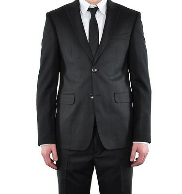 ROBERTO CAVALLI CLASS Suit Black Wool Costume Noir Laine 02762